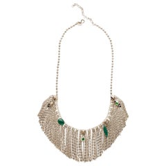 Iosselliani Green Agate Fringed Necklace