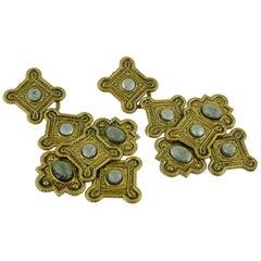 Zoe Coste Vintage Massive Byzantine Inspired Dangling Earrings