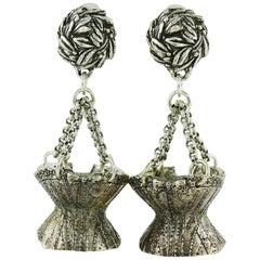 Chantal Thomass Vintage Novelty Corset Dangling Earrings