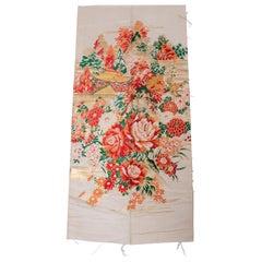 Vintage Silk Japanese Panel