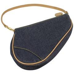 Christian Dior Saddle Bag by John Galliano in Denim