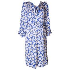 Vintage Donald Campbell Silk Dress