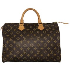 Louis Vuitton Monogram Speedy 35 Satchel Handbag