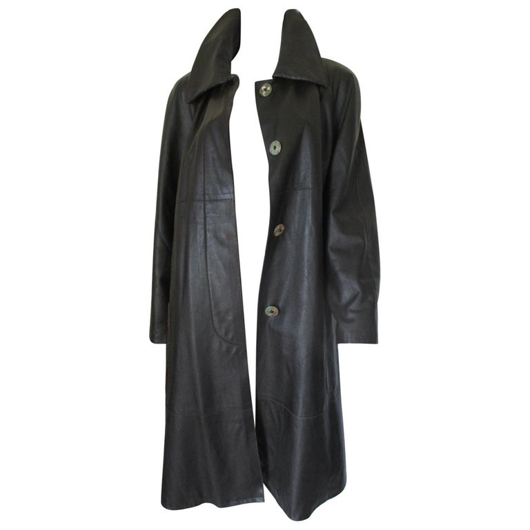 Fendi leather coat