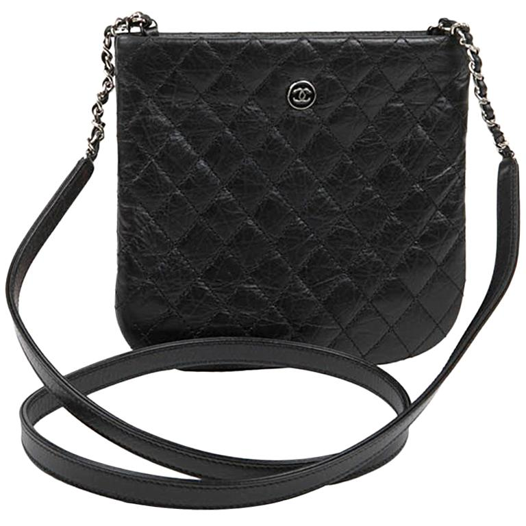 73993ffb3132 Chanel Black Leather Clutch For Sale at 1stdibs