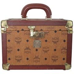 MCM Vintage Cognac Beauty Vanity Case, 1980s