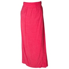 Vintage Yves Saint Laurent Rive Gauche Raspberry Pink Skirt