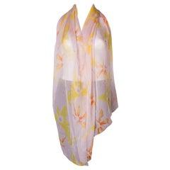 Vintage Silk Chiffon Scarf by Gianni Versace