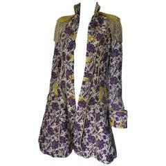 Floral Epaulettes Military Style Coat