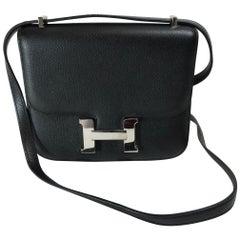 Hermès Black Epsom leather Mini Constance 18 Bag