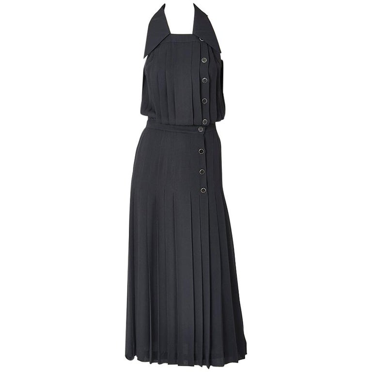 Karl Lagerfeld Pleated Maxi Dress For Sale