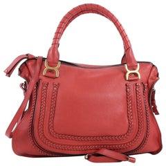 Chloe Marcie Braided Satchel Leather Large