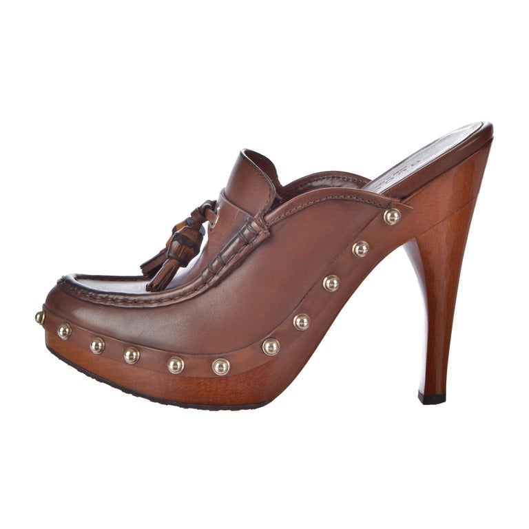 ecb478f0138 New Gucci Resort 2007 Leather Bamboo Tassel Heels Sz 6 For Sale at ...