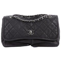 Chanel Natural Beauty Split Pocket Flap Bag Quilted Leather Medium