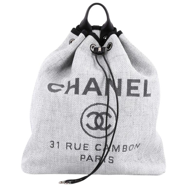 8a27e8995f90 Chanel Deauville Backpack Canvas Large at 1stdibs