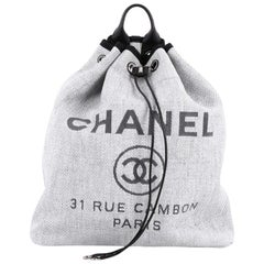 Chanel Deauville Backpack Canvas Large