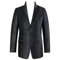 DOLCE & GABBANA c.2007 MARTINI Black Velvet Three Button Blazer Evening Jacket