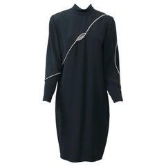Cyreld Black Cocktail Dress with Rhinestone Trim