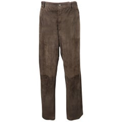 MALO Size 32 Brown Solid Straight Leg Pants
