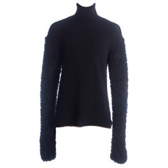 Issey Miyake Mens black oversized sweater with extra long sleeves, c. 1990-9