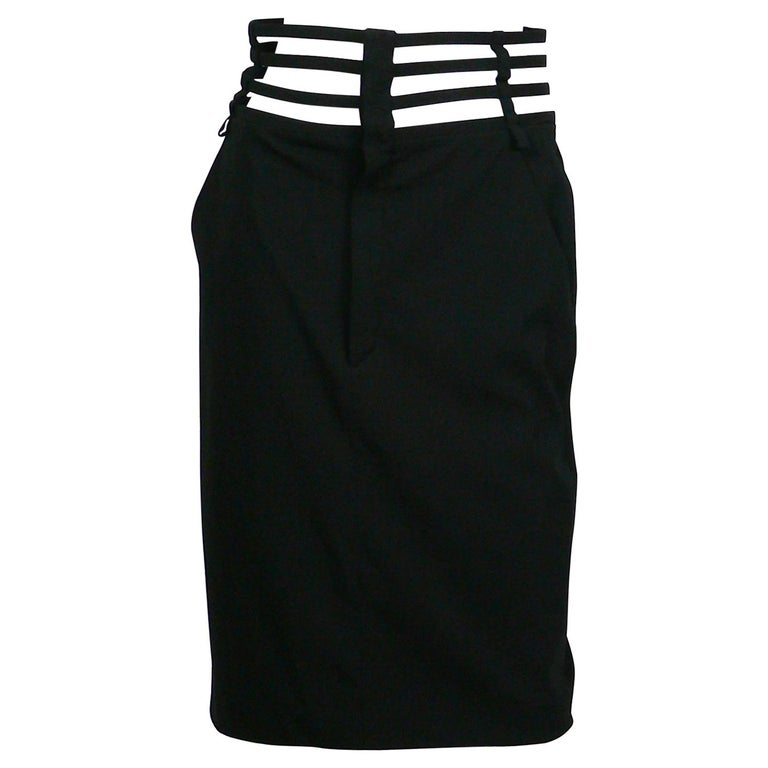 Jean Paul Gaultier Iconic Black Cage Skirt US Size 8