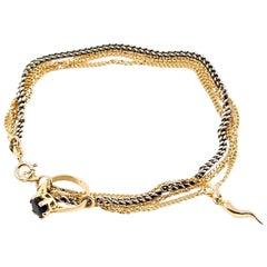 Puro Iosselliani Silver and Gold Bracelet
