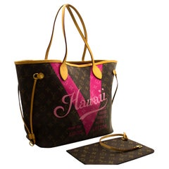 Louis Vuitton Hawaii Limited Neverfull MM M43299 Monogram Shoulder Bag