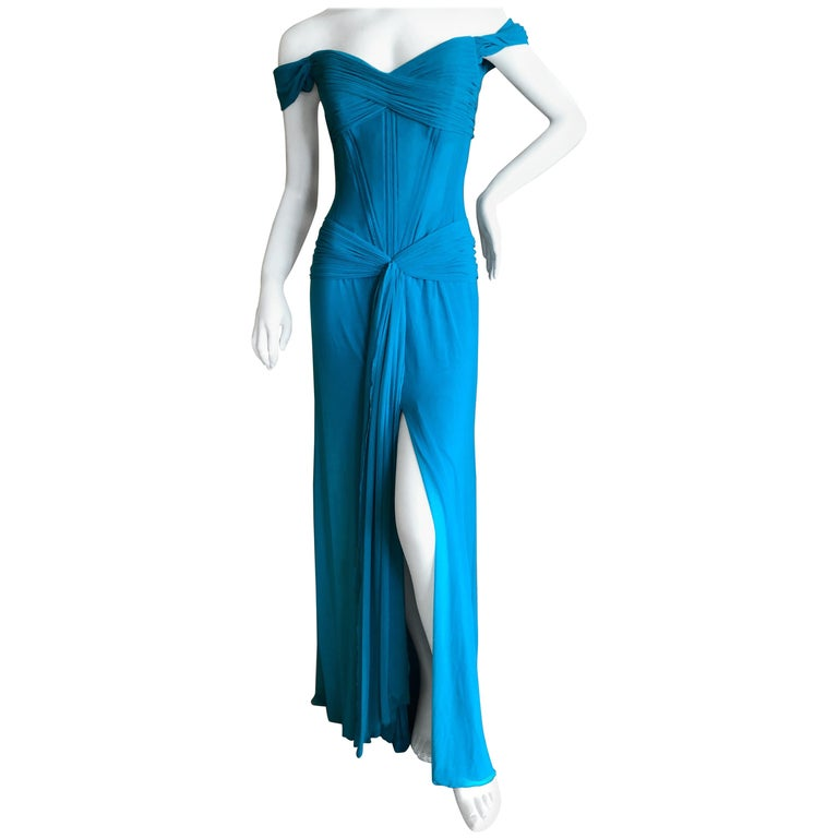Vicky Teil Couture Paris For Neiman Marcus Corseted Evening Gown Nwt