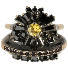 Iosselliani Cocktail Stacked Ring