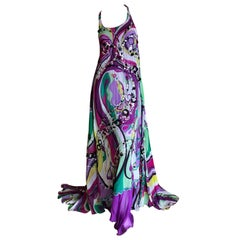 Emilio Pucci Extravagantly Embellished Silk Evening Dress