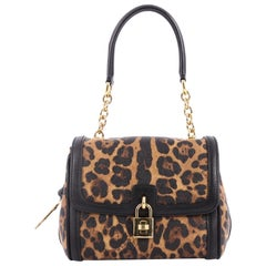 Dolce & Gabbana Miss B Shoulder Bag Printed Coated Canvas Small