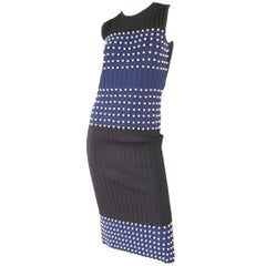 Emilio Pucci Knit Dress with Faux Pearls