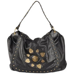 Gucci Black Leather Irina Babouska Flap Shoulder Bag