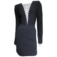 Pierre Balmain Lace Up Bandage Dress