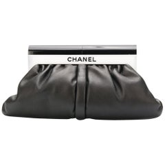 Chanel Black & White Perspex and Lambskin Bag