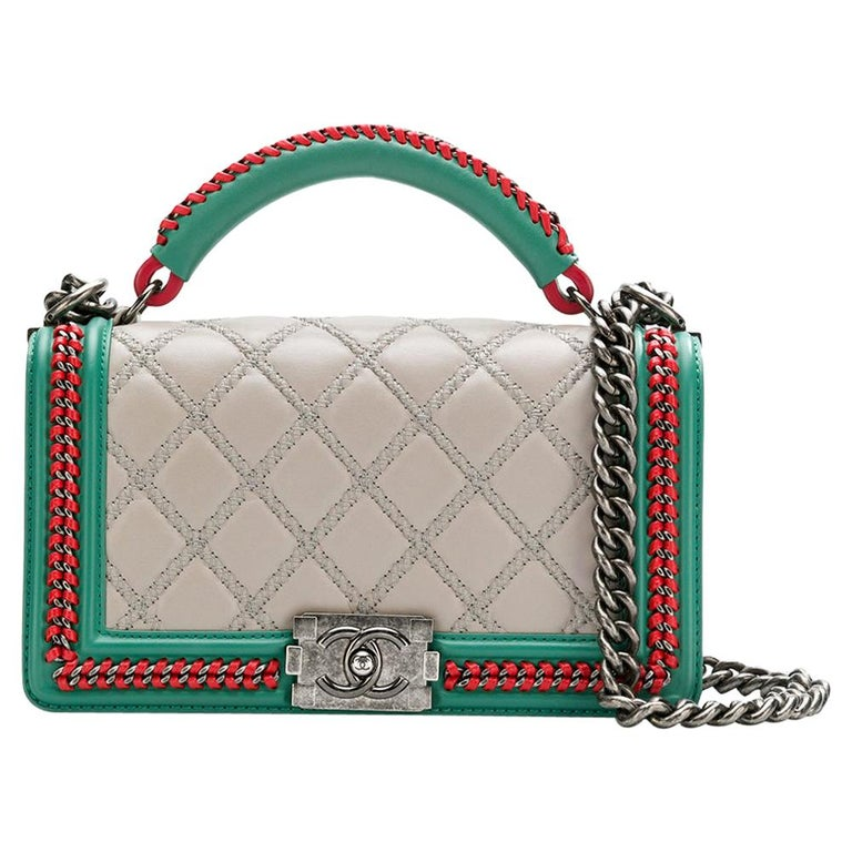 36d8542ddb5c87 Chanel Tri Color Boy Bag at 1stdibs