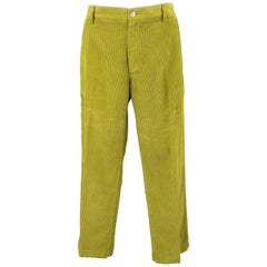 ETRO Size 32 Green Corduroy Straight Leg Casual Pants