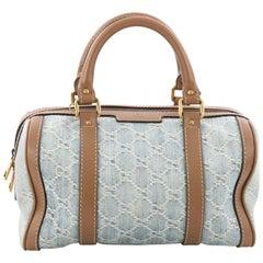 Gucci Convertible Joy Boston Bag GG Denim Small