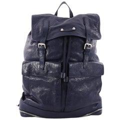 Balenciaga Expandable Traveller Buckle Backpack Leather