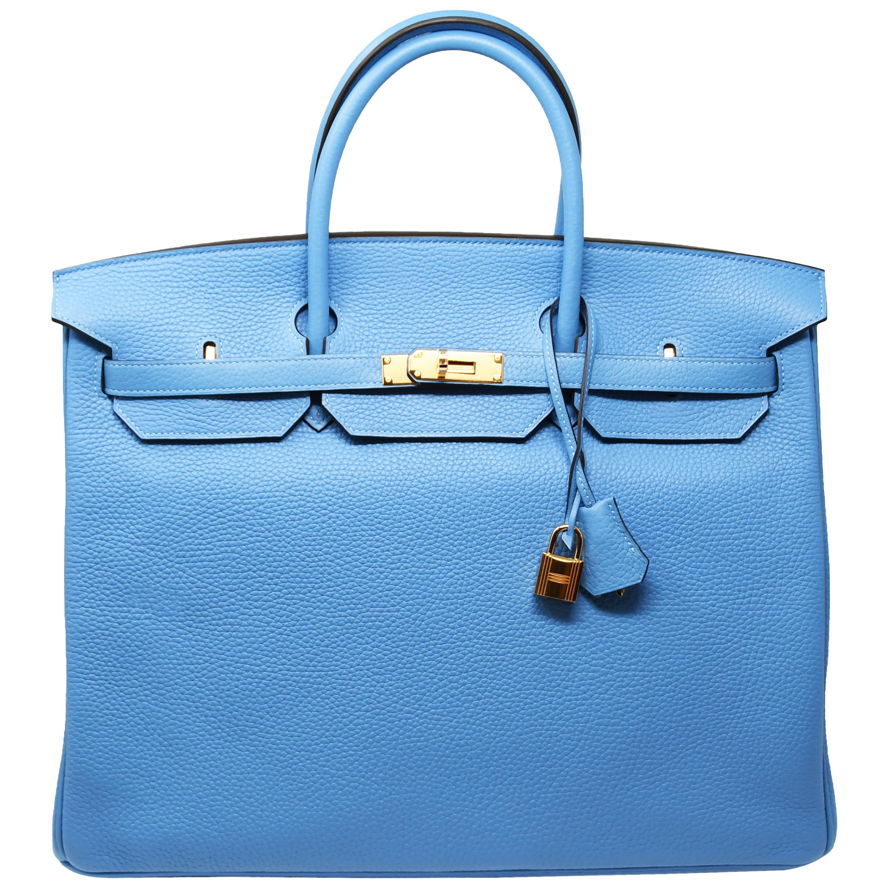 166eea43ecc8d Hermes Birkin Bag 35cm Turquoise Togo with Gold Hardware For Sale at 1stdibs