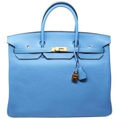 Hermes Birkin Bag 40cm Blue Paradise with Gold Hardware