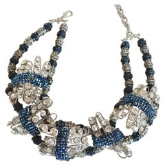 Francoise Montague Limited Series Glass and Crystal Statement Necklace