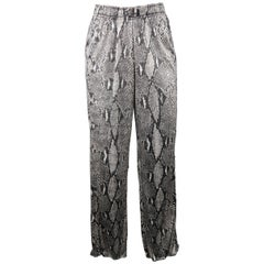 GUCCI Pants by TOM FORD - Spring 2000 Runway - Grey Python Print Rayon