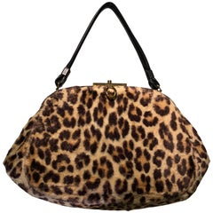 1960s INGBER Faux Leopard Doctors Bag