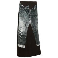 Jean Paul Gaultier Vintage Trompe L'oeil Maxi Skirt