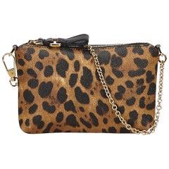 Dolce&Gabbana Brown Cheetah Print Baguette