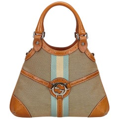 Gucci Brown x Multi Double G Canvas Handbag