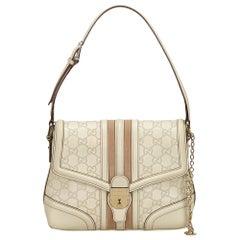 Gucci White x Brown  Guccissima Leather Treasure