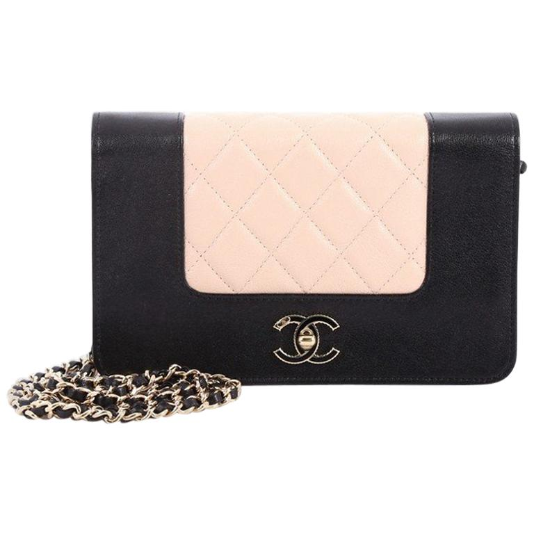 5bdcfd2b3082 Chanel Mademoiselle Vintage Wallet On Chain Quilted Sheepskin at 1stdibs