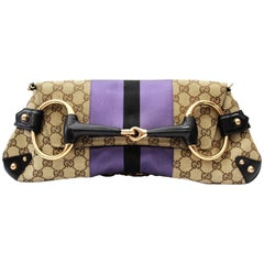 Gucci Tom Ford Monogram Horsebit Chain Clutch Bag